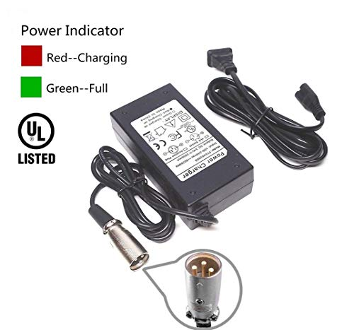 EPtech 24V 2A Scooter Battery Charger for Jazzy Power Chair,Pride Hoveround Mobility,Schwinn S300 S350 S400 S500 S650,Ezip 400 500 650 750 900 Mountain Trailz,Shoprider,Golden Buzzaround Lite