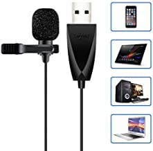 USB Microphone, Z ZAFFIRO Lavalier Mic Lapel Clip on Microphone for Computer PC, Laptop, Mac,MacBook,PS4. Perfect for Video Yutube Recording,Interviews,Skype,Vlogging,Podcast