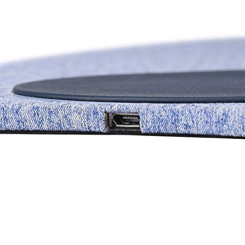 SilenceID Kabelloses Ladegerät 10W QI 2 in 1 kabelloses Lademauspad-Tischladegerät für Samsung/iPhone/Nokia/Nexus