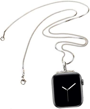 Stainless Steel Chain Necklace Smartwatch Band 42mm Series 3 2 1 44mm Series 4 New Newest Polished product image