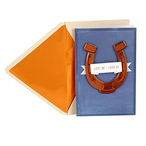 Hallmark Signature Father's Day Card for Husband or Boyfriend (Horseshoe, Lucky Me Lucky Us)
