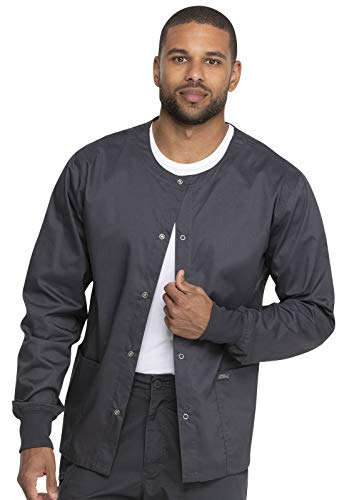 Dickies Genuine Industrial Strength Unisex Unisex Warm-up Jacket, GD300, L, Pewter