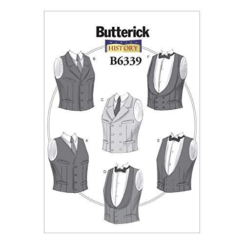 Butterick Muster 6339XM Herren Kostüme Schnittmuster, Größen klein–Groß