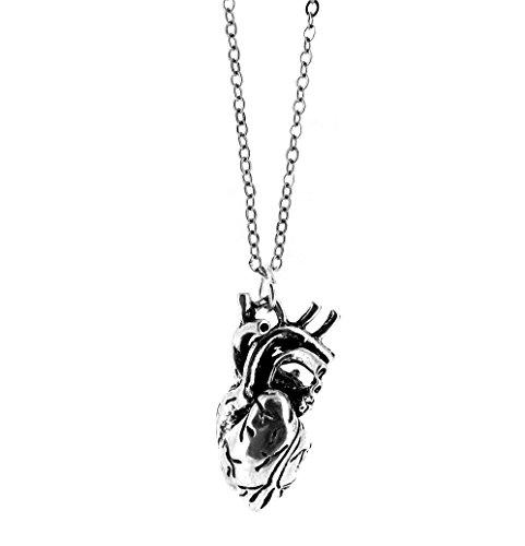 Fallen Saint Anatomisch korrekte menschliche Herz Charm Halskette - Geschenk-Box
