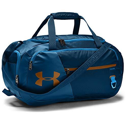 Under Armour Undeniable Duffle 4.0 kompakte Sporttasche, wasserabweisende Umhängetasche Unisex, blau (Graphite Blue/Electric Blue/Yellow Ochre(581)), S