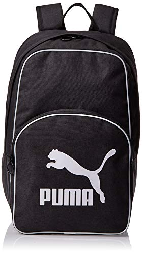 PUMA Originals Backpack Retro Woven Mochilla, Unisex-Adult, Black, OSFA