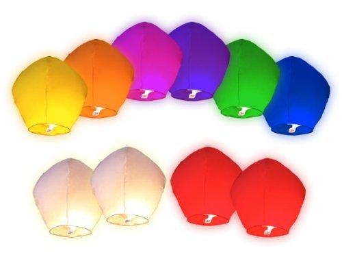 Gift_Shop Lot de 20 lanternes Chinoises Volantes, colorées, Aluminium, Mixtes, 33 x 86 cm