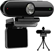 Webcam 2K with Microphone for Desktop, Laptop, Mac, Notebook PC QHD Webcam 4MP USB Computer Webcam with Privacy Cover and Mini Tripod Stand
