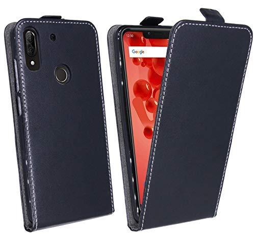 cofi1453 Klapptasche Schutztasche Schutzhülle Flip kompatibel mit Wiko View 2 Plus Tasche Hülle Zubehör Etui in Schwarz Tasche Hülle