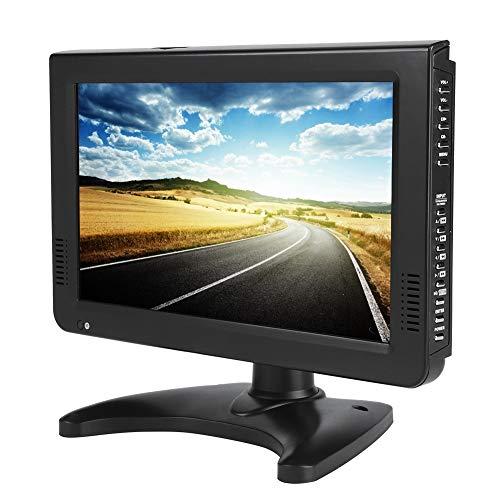 Heayzoki TV Digital portátil, DVB-T2 Alta sensibilidad TV Digital para automóvil Estéreo Que rodea 1080P Televisión para automóvil, para automóvil, Caravana, Camping, al Aire Libre, Cocina(10in)