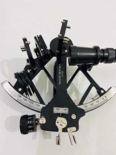 Malla Inc. sextante de Trabajo de Aluminio de 9 cm | sextante náutico | sextante Marino de navegación | Reproducción sextante a Mano con Lector de Tambor de micrómetro