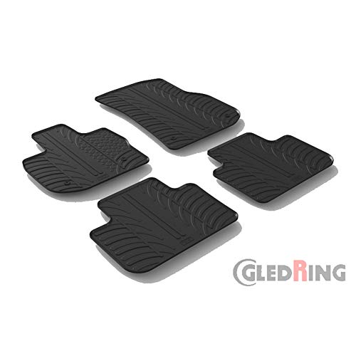 Gledring Satz Gummimatten BMW X3 (G01) 11/2017- (T Profil 4-teilig + Montage-clips)