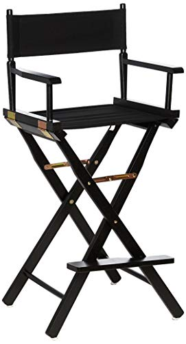 "Casual Home Director's Chair ,Black Frame/Black Canvas,30"" - Bar Height"