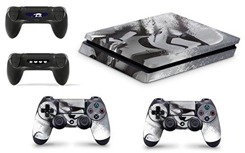 giZmoZ n gadgetZ Skins Adhesivos GNG para Cubierta de Playstation 4 PS4 Slim de Star Wars Battlefront Stormtrooper + 2 Sets de Skins del Controlador