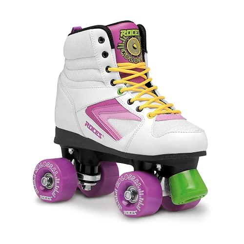 Roces Kinder Kolossal Rollerskates/Rollschuhe Street, weiß-Grün, 36