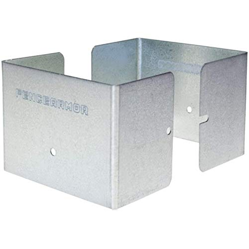 "Buy Discount Fence Armor Universal Post Guard, Protects Fences, Mailbox Posts | 1 Pair (3.5"" x 3.5..."