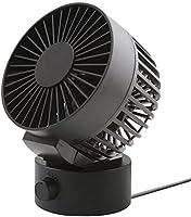 usb扇風機 小型 卓上扇風機 SUPER DREAM 高品質 静音 2段階調節 大風量 USB給電 掃除しやすい かわいい コンパクト プレゼント 人気(黒)