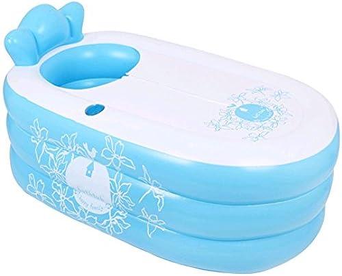 CHQYC Verdickte erwachsene aufblasbare Plastikbadewanne, die Badewannen-Faltbare Wanne w ht