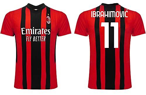 3R Ibrahimovic Milan 2022 Offizielles Trikot für Erwachsene, Jungen und Kinder, Nachbildung 2021 2022, mehrfarbig, XL