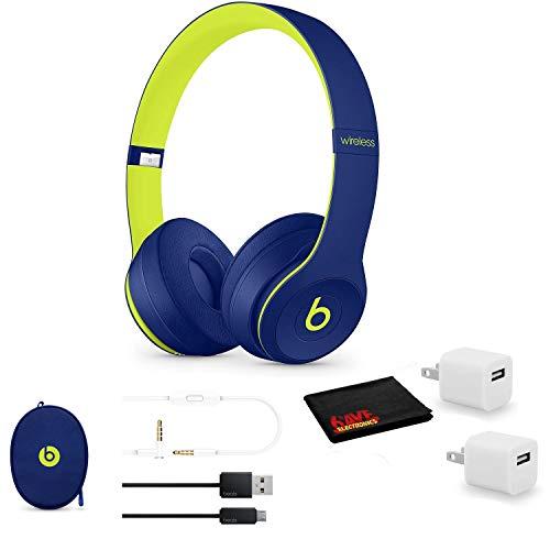 Beats by Dr. Dre Beats Solo3 Wireless On-Ear Bluetooth Headphones (Pop Indigo) - Kit with...