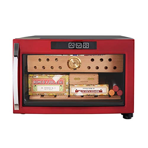 even 23L Single Temperature Mini Cigar Cabinet, Wine Cabinet Smoke Cabinet Cedar Wood Storage Cabinet Cigar Freezer, Decent Cigar Box Gift Set