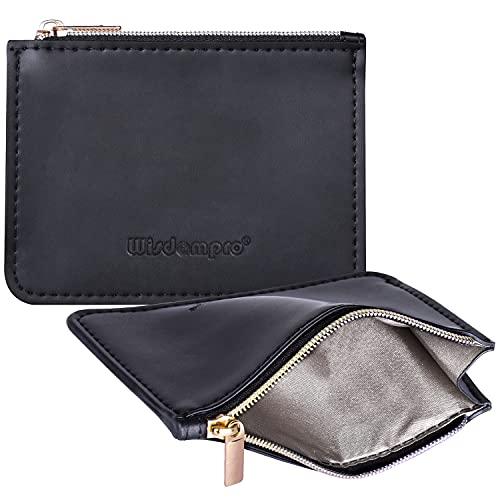 クレジットカードケース Wisdompro 磁気防止 スキミング防止 PUレザー ミニ財布 軽量 カード入れ 男女兼用 10枚収納 ブラック