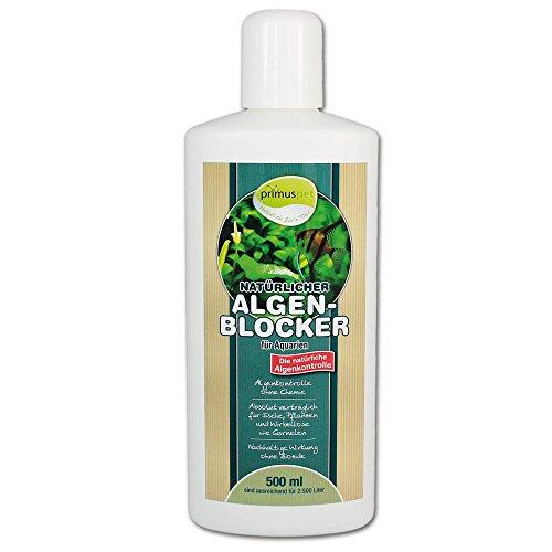 primuspet Natürlicher Aquarium Algen-Blocker (GRATIS Lieferung in DE - Algenkontrolle ohne Chemie. Wirkt auf natürliche Weise. Verträglich für Garnelen und Wirbellose), Inhalt:500 ml