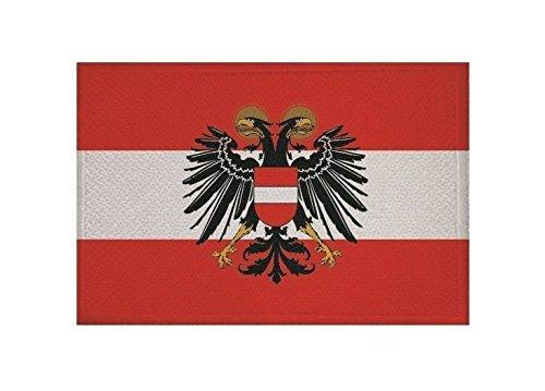 U24 Aufnäher Österreich mit Adler alt Fahne Flagge Aufbügler Patch 9 x 6 cm