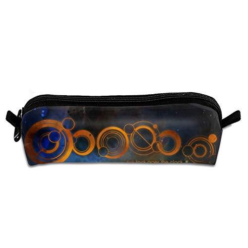 Doctor Who - Estuche para lápices duradero y portátil, bolsa de papelería, bolsa de cosméticos simple con cremallera para rotuladores de gel