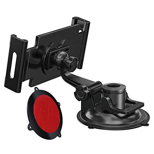 Nrpfell Adjustable 360 Car Phone Holder Car Windshield Desk Holder Suction Cup Mount Stand Universal for Plate Bracket with Tray