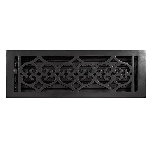 Naiture 4' x 14' Cast Iron Floor Register Old Victorian Style