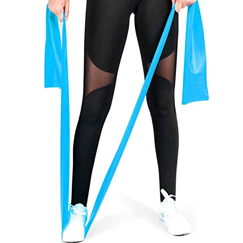 CoutureBridal Resistance Bands, Professional Exercise Bands Long Natural Latex Elastic Bands, Perfect for Strength Training, Physical Therapy, Yoga, Pilates, Stretching (Sky Blue)