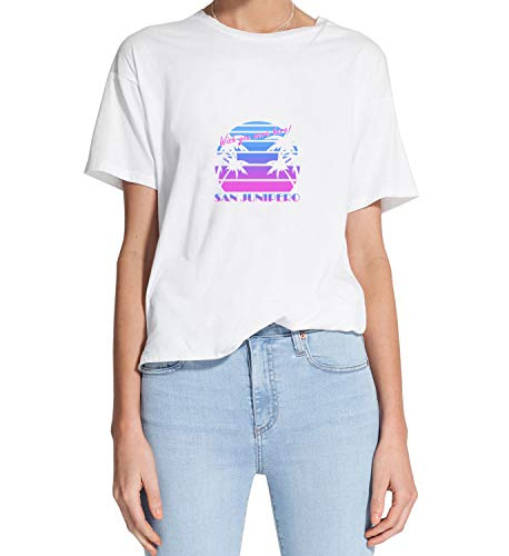 Camiseta de San Junipero Wish You were Here_MRZ1272 100% algodón para mujer, camiseta para verano, regalo, mujer, camiseta casual - blanco - Medium