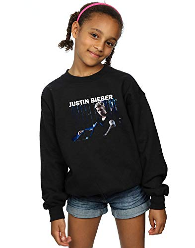 Absolute Cult Justin Bieber Mädchen Sitting Shadows Sweatshirt Schwarz 9-11 Years
