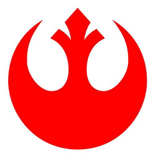 Star Wars Rebellen-Allianz-Logo, Wand-Aufkleber, Vinyl-Sticker, 700 mm, für Autos, Motorräder, Wohnwagen, Häuser, von Customise4U™, Vinyl, rebel alliance logo, 700 mm