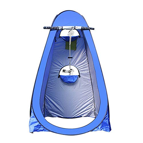 ATopoler Pop Up Toilet Tent Camping Shower Shower Privacy Toilet Tent Portable Foldable Outdoor Changing Tent with Carrying Bag 120 * 120 * 190cm (Blue)