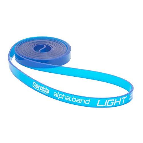 alphaband Widerstandsbänder | Funktionelle Fitness-Bänder für Krafttraining und Crossfit, Anti-allergen, latexfrei, inkl. Online DVD… (1 - Light)
