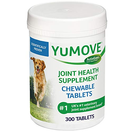 Dog Joint Supplement Chewable Tablets Glucosamine HCI, Hyaluronic Acid, and Green Lipped Mussel and...