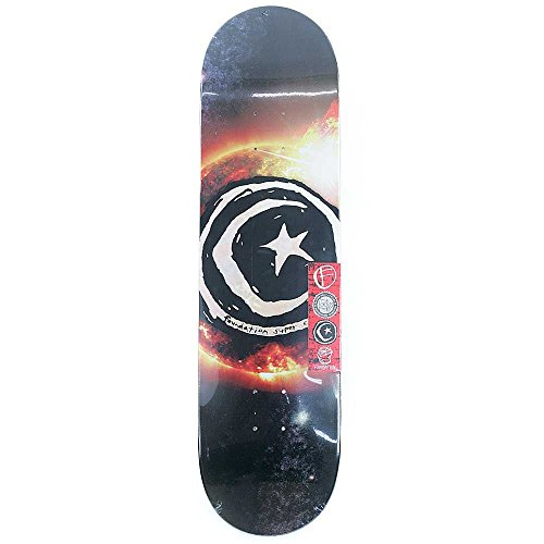 Unbekannt Foundation Skateboard Deck–Star und Mond Sun Flare 21cm