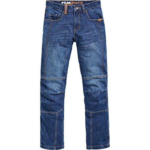 Preisvergleich Produktbild FLM Motorrad Jeans Motorradhose Motorradjeans Aramid / Baumwolljeans 2.0,  Used-Waschung,  Aramid-Gewebe,  vorgeformte Kniebereiche,  Taschen für Knie- und Hüftprotektoren,  5 Taschen,  Blau,  31 / 34