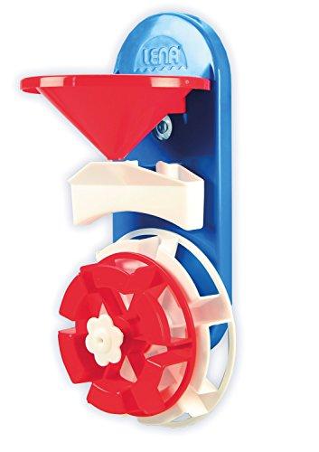 Lena 65471 - Wasserspaß Wasserrad, Badespielzeug aus Kunststoff, Spielset mit Wassermühle mit Trichter und 2 Wasserrädern, Wasserspielzeug Set für Kleinkinder ab 1 Jahr, Badewannenspielzeug