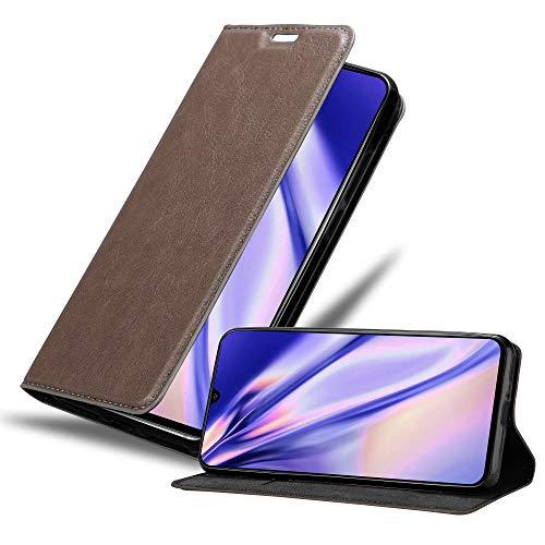 Cadorabo Hülle für Samsung Galaxy A90 5G in Kaffee BRAUN - Handyhülle mit Magnetverschluss, Standfunktion & Kartenfach - Hülle Cover Schutzhülle Etui Tasche Book Klapp Style