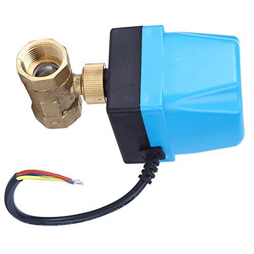 Válvula de bola eléctrica, caja fuerte de control preciso de la válvula de bola para agua para diésel(G3 / 4', rosado)