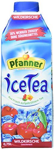 Pfanner Eistee Wildkirsche zuckerreduziert, 8er Pack (8 x 750 g)