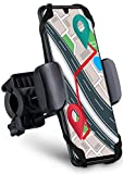 MoEx® - Soporte para teléfono móvil para bicicleta giratorio y orientable para todos los teléfonos móviles Elephone - Sujeción extremadamente fuerte también en bicicleta de montaña - Fijación completa