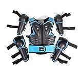 Armadura protectora para motocicleta para niños de 5 a 13 años de edad para motocross, ciclismo, esquí, patinaje, patinaje, Blue&Black