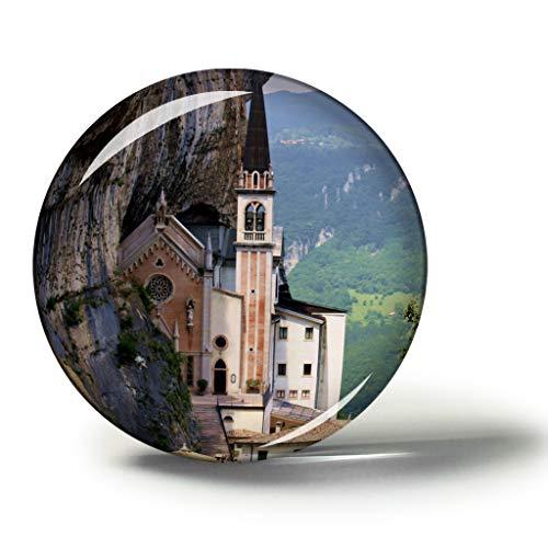 Hqiyaols Souvenir Madonna della Corona Veneto Italia Magneti Frigo Frigorifero Magnete Souvenir Collezionismo ViaggioRegalo Cristallo 1.9 Inches