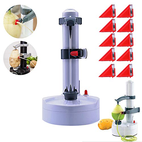 Electric Peeler Rotato Express2.0 + 10 Replacement Blades,Automatic Rotating Fruits & Vegetables Cutter Apple Paring Machine - Kitchen Peeling Tool Yoruii