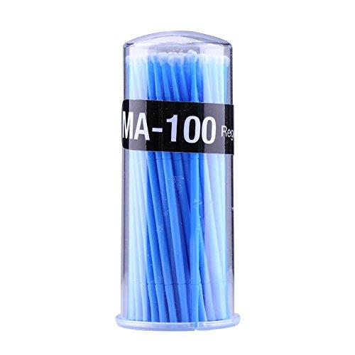 Micro Jetable Extension de Cils Brosse Applicateurs Individuels Mascara Outil Pour Les Femmes Bleues 100 Pcs