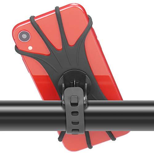 """PEYOU Soporte Movil Bici, 360° Rotación Soporte Movil Moto Bicicleta, Ajustable Universal Silicona Teléfono Manillar, Compatible para iPhone X/XR/XS MAX, para Samsung Galaxy, Xiaomi, Huawei (4""""-6.5"""")"""